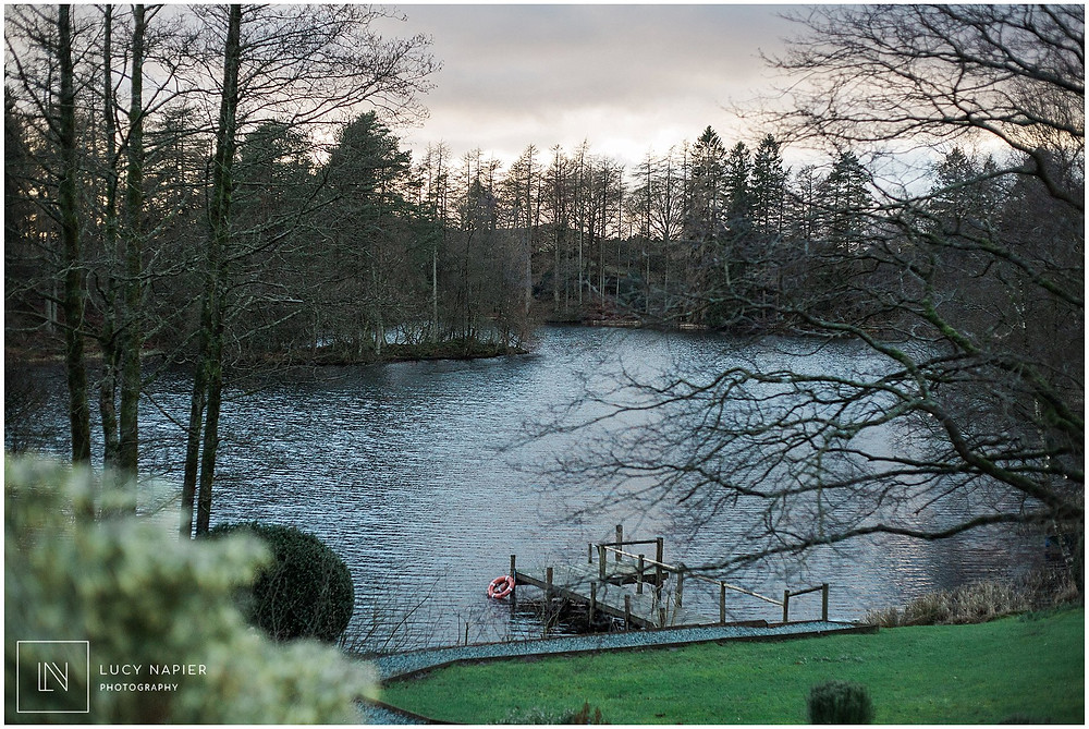 beautiful view of the lake district from the gilpin lake house