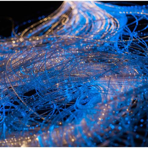 fibre optic lights blue