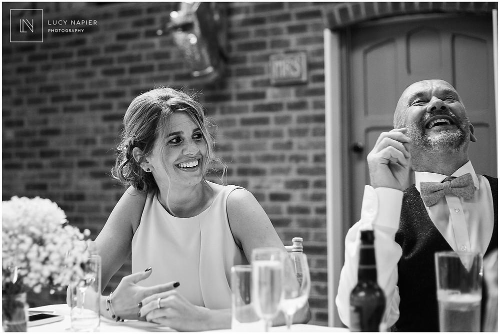 laughter during a wedding speech
