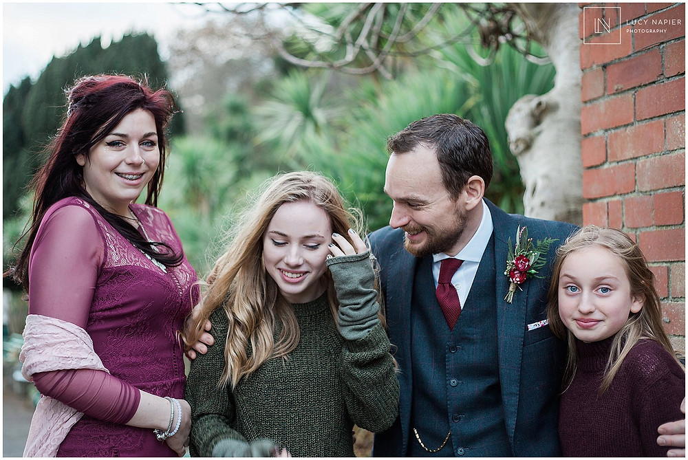 family portraits outside Lucy napier wedding photography