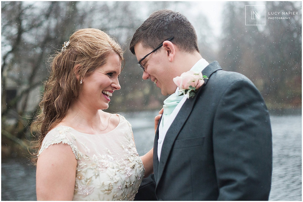 Emma and ben have a moment to themselves after getting married