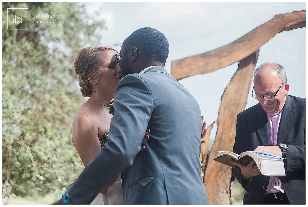 The first kiss wedding in Kenya