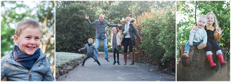 portrait of a boy, family and brother and sister in mini session