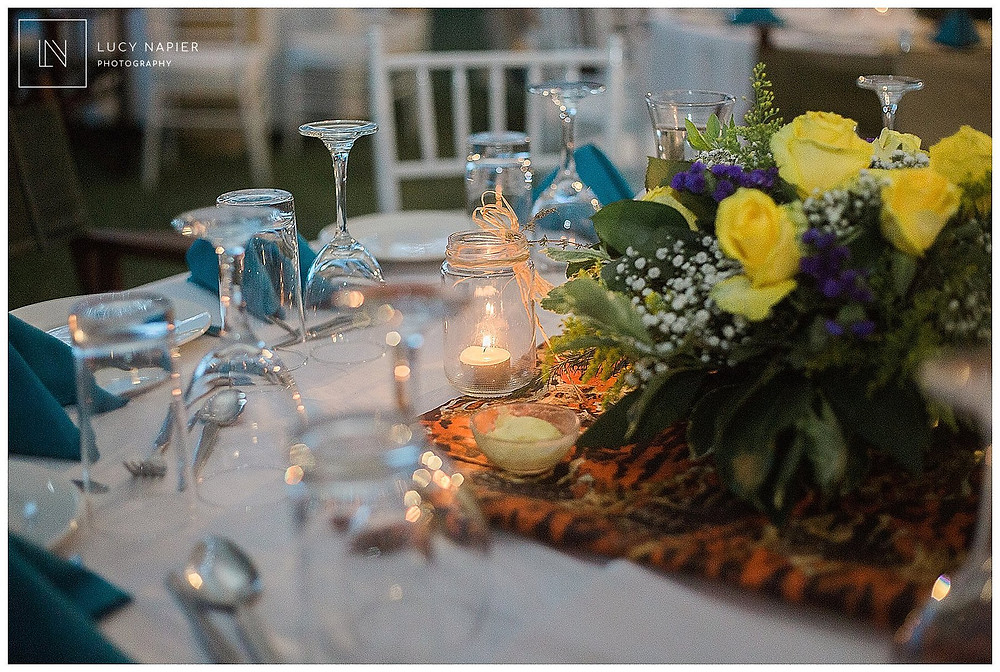 table decorations Kenya wedding
