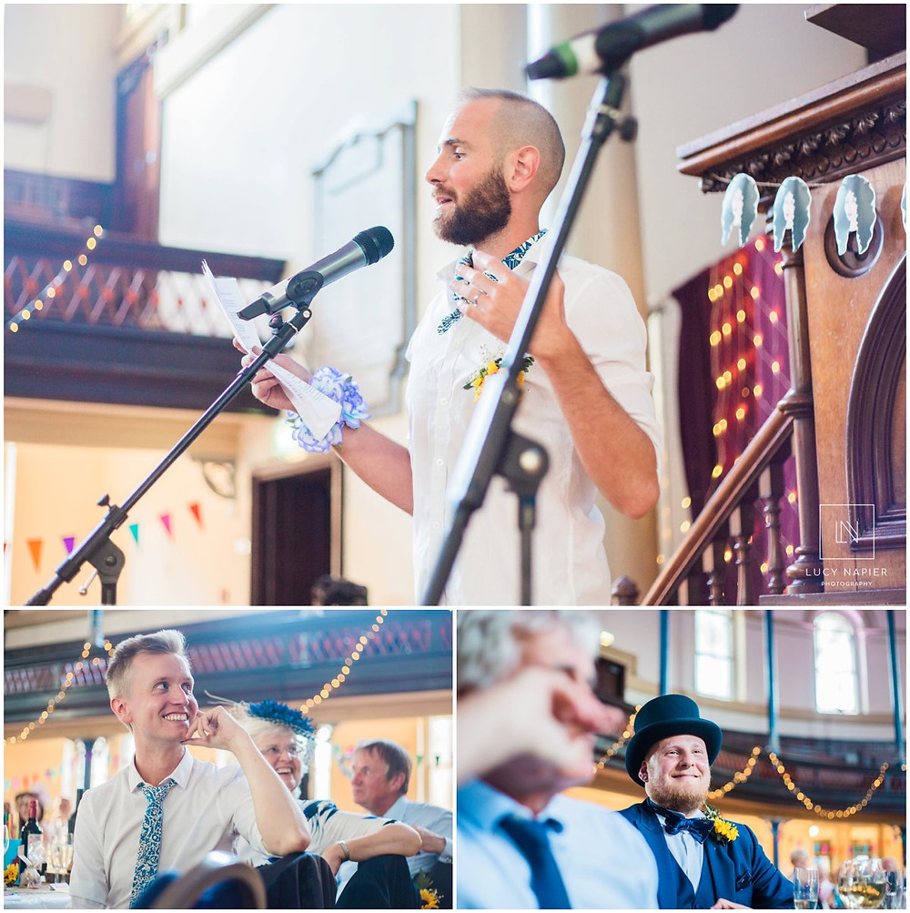 the groom does a speech