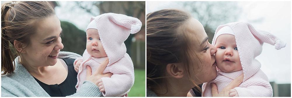 baby girl and mum