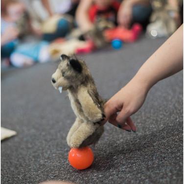 wolf finger puppet at adventure babies