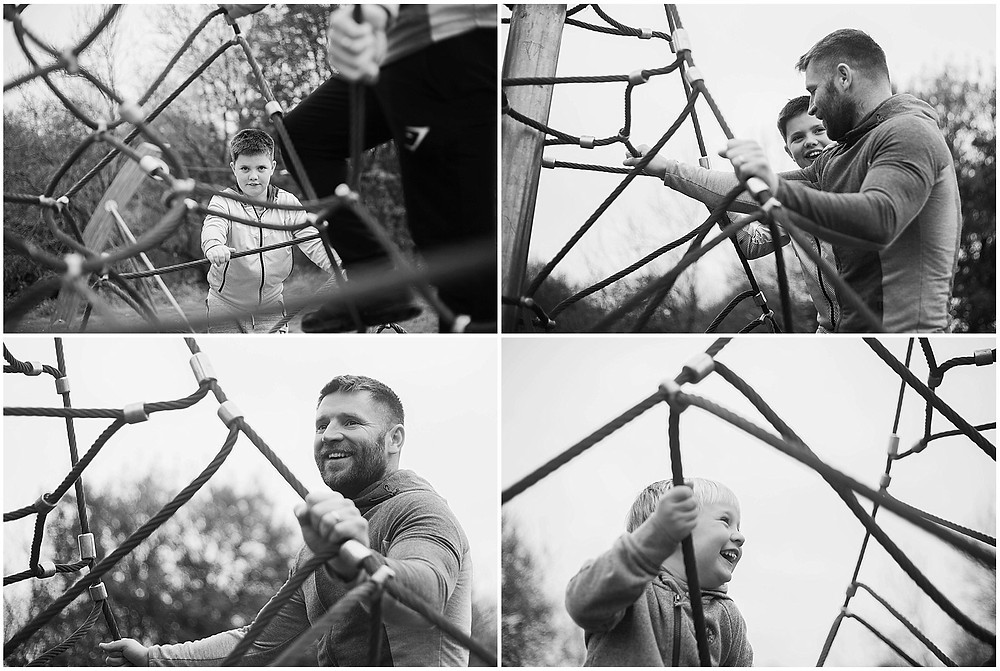 star winkle photography dad and boys on the climbing frame