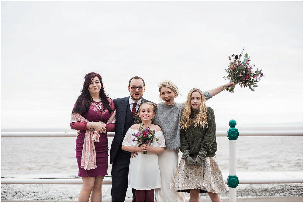 family portraits on the pier Penarth