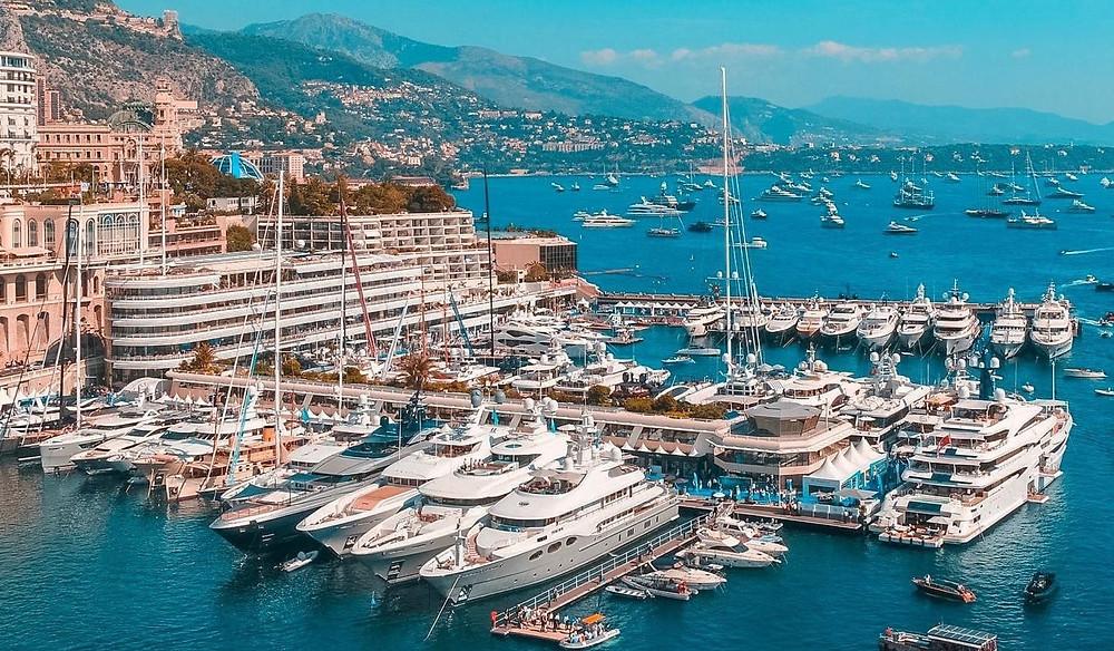 Yachts Berthed in Monaco's Marina