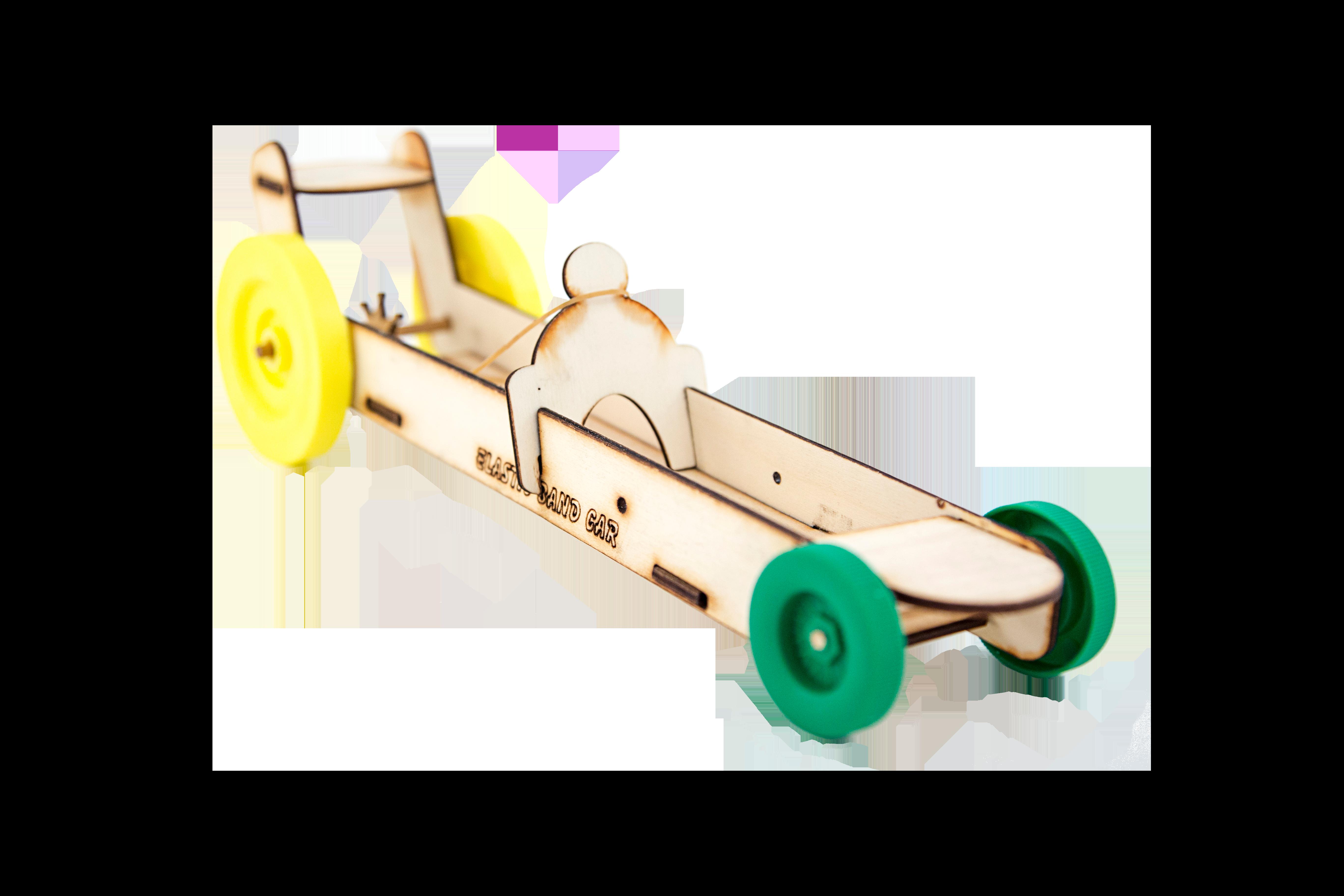 S.T.E.M. Elastic Band Car