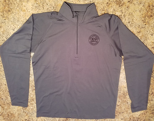 Pullover-Gray Embroidered 1/2 Zip