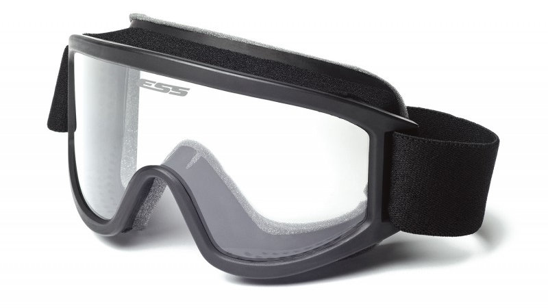 ESS Tactical XT Asian Fit Black with Clear Lense