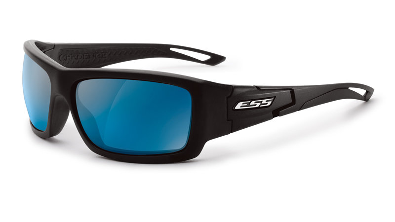 Credence (Black Frame Mirrored Blue Lenses)