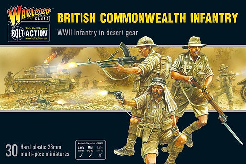 Britische Commonwealth-Infanterie