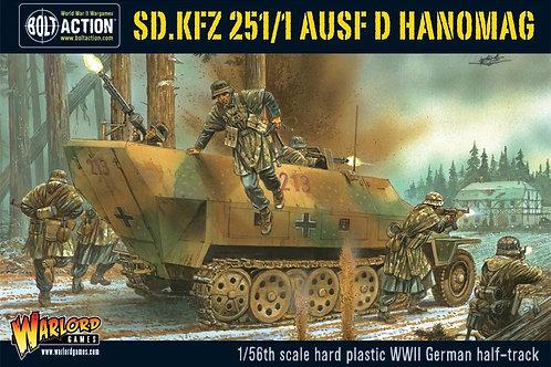 Sd.Kfz 251/1 ausf D halftrack plastic / Halbkette