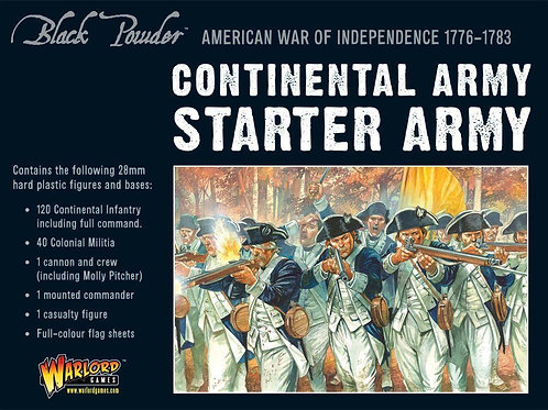 American War of Independence Continental Army starter set