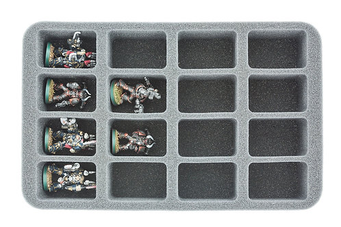 50 mm Half-Size Schaumstoff - 16 mittlere Fächer