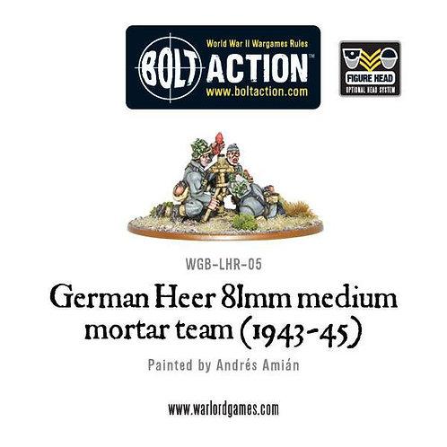 German Heer 81mm medium mortar team (1943-45)