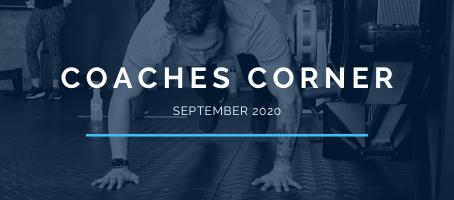 Coaches Corner September 2020