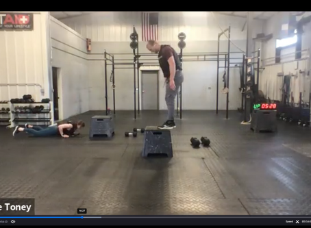 Live Workout Wednesday, May 6th