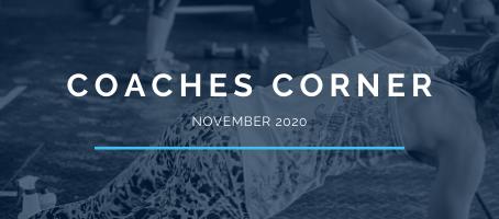 Coaches Corner November 2020