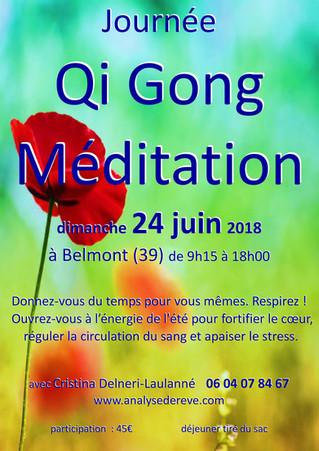 Qi Gong et Méditation le 24 juin à Belmont