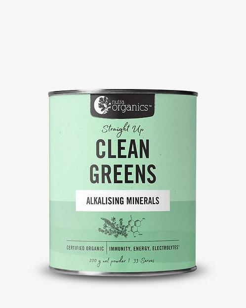 Nutra Organics Clean Greens Straight Up 200g Powder