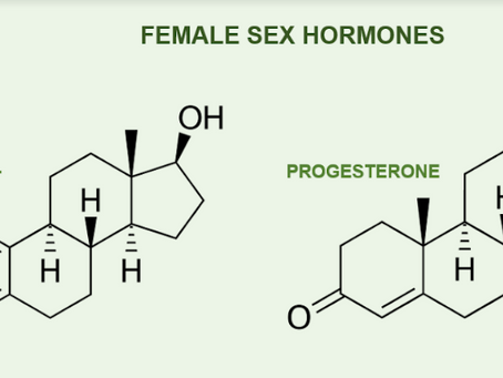 What do oestrogen and progesterone do?