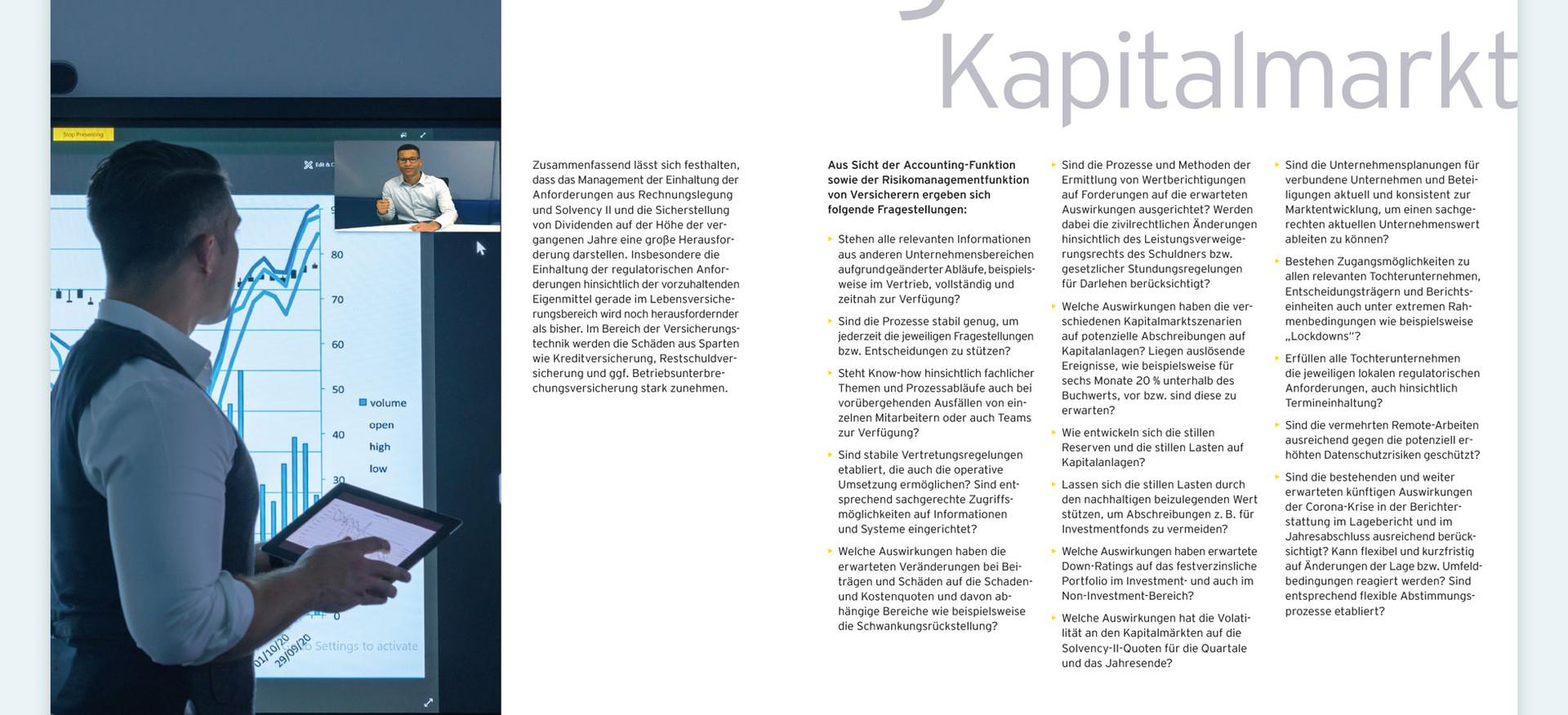 EY Broschüre – Corona: Auswirkungen auf die deutsche Versicherungsindustrie