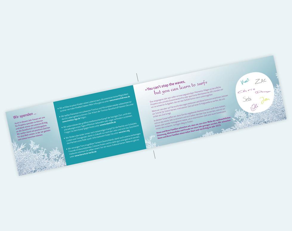 antaui GmbH, Weihnachtskarte 2018, Innen