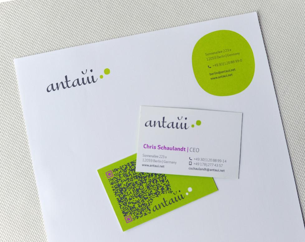 antaui GmbH, Geschäftsausstattung