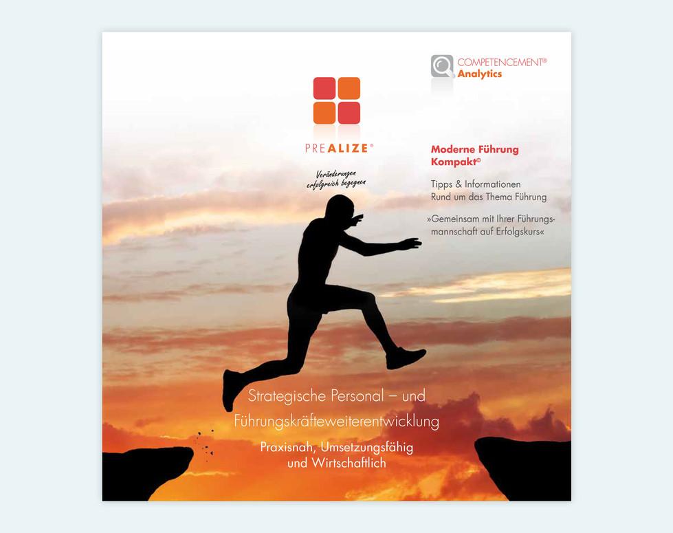 PREALIZE GmbH, Flyer, 21 x 21 cm, Titel