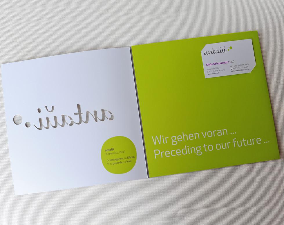 antaui GmbH, Flyer, gestanzt, Innenseite