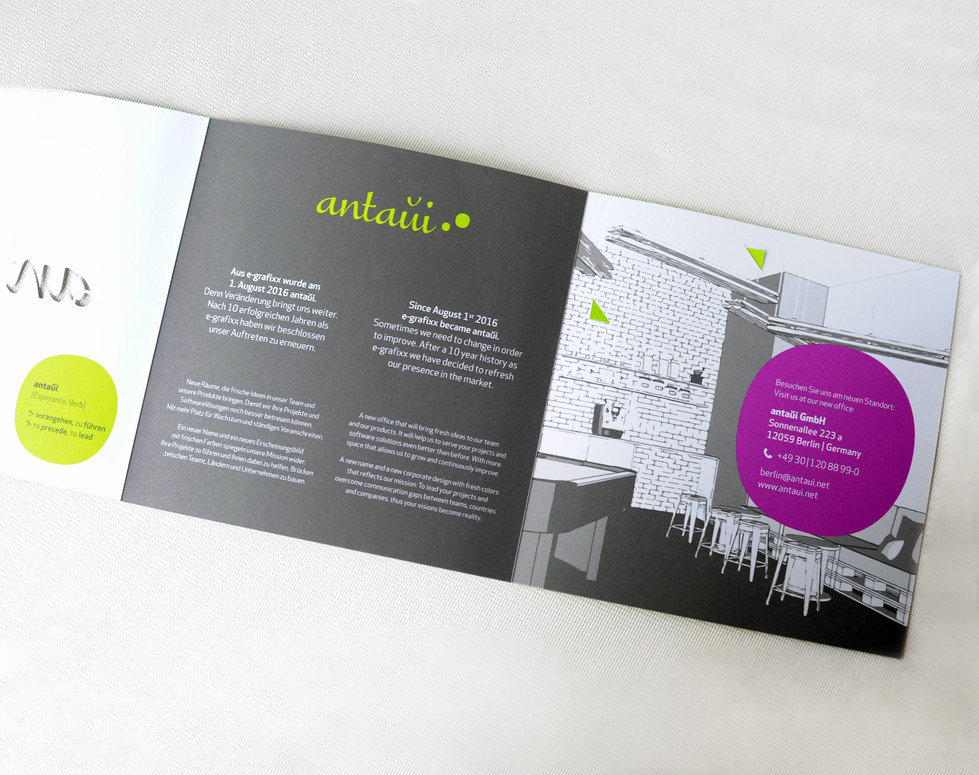 antaui GmbH, Flyer, Innenseite