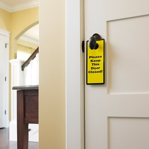Garage and Basement Safety Sign  (2-Pack)
