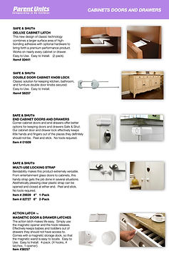 Parent Units Catalog Cabinets and Drawer