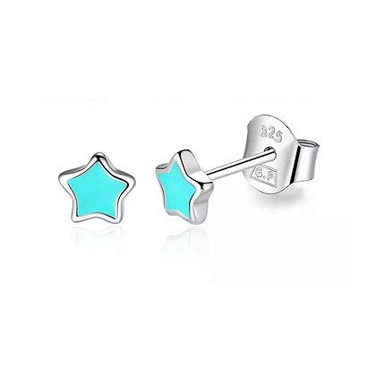 Petite Star Stud - Turquoise