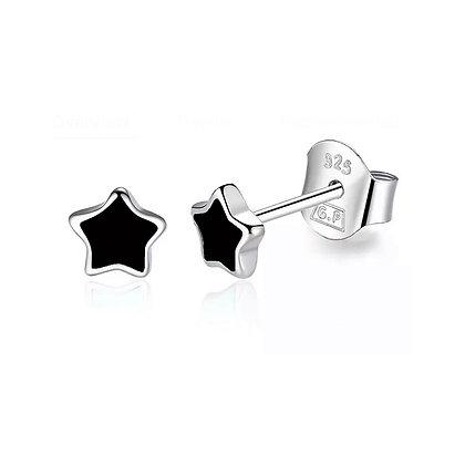 Petite Star Stud - Black