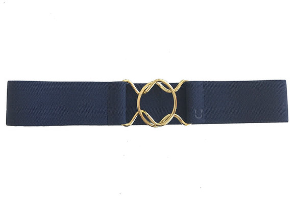 Navy & Gold/Silver Clasp