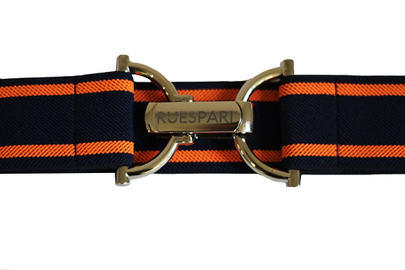Orange/Navy & Silver Engraved Clasp