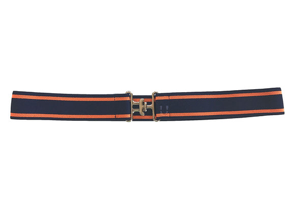 Orange/Navy & Silver Surcingle