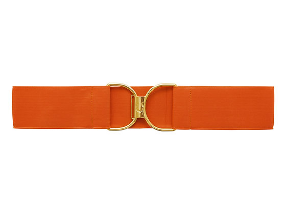 Pumpkin Spice & Gold Embossed Logo Clasp