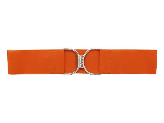Pumpkin Spice & Silver Embossed Logo Clasp