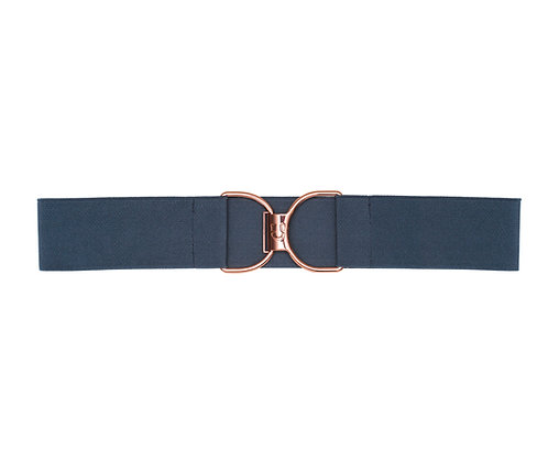 Navy Brut & Rose Gold Embossed Logo Clasp