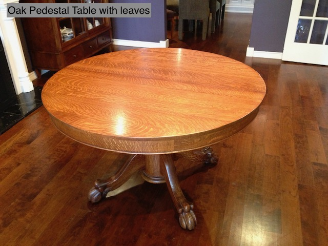 Oak Pedestal Table With Leaves