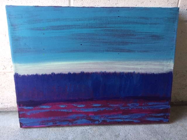 """18x24"""" Dusk on the Water"""