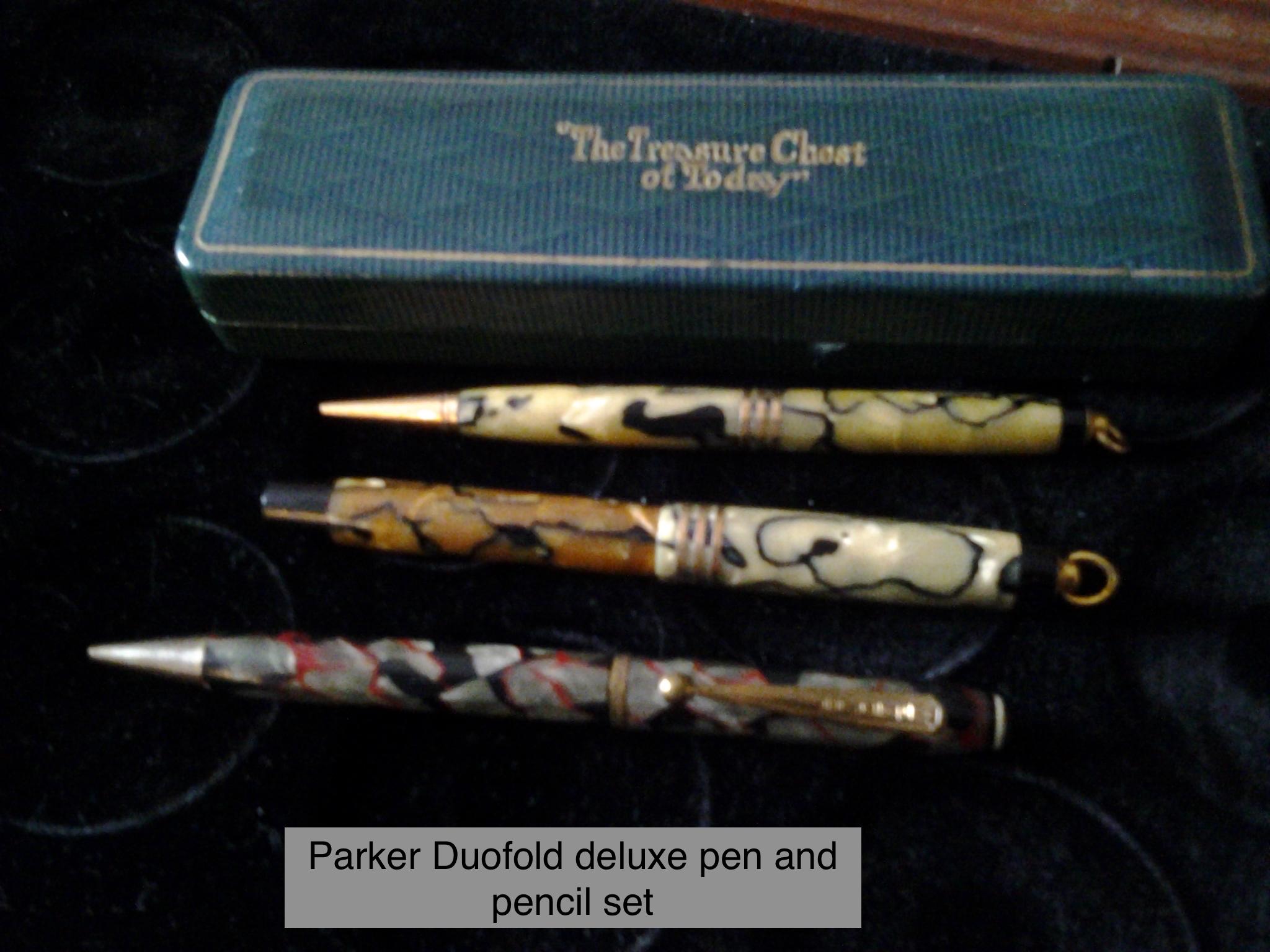 Parker Duofold Deluxe Pen&Pencil Set