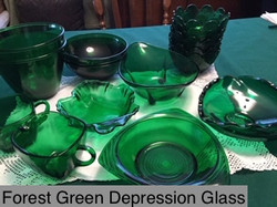 Forest Green Depression Glass