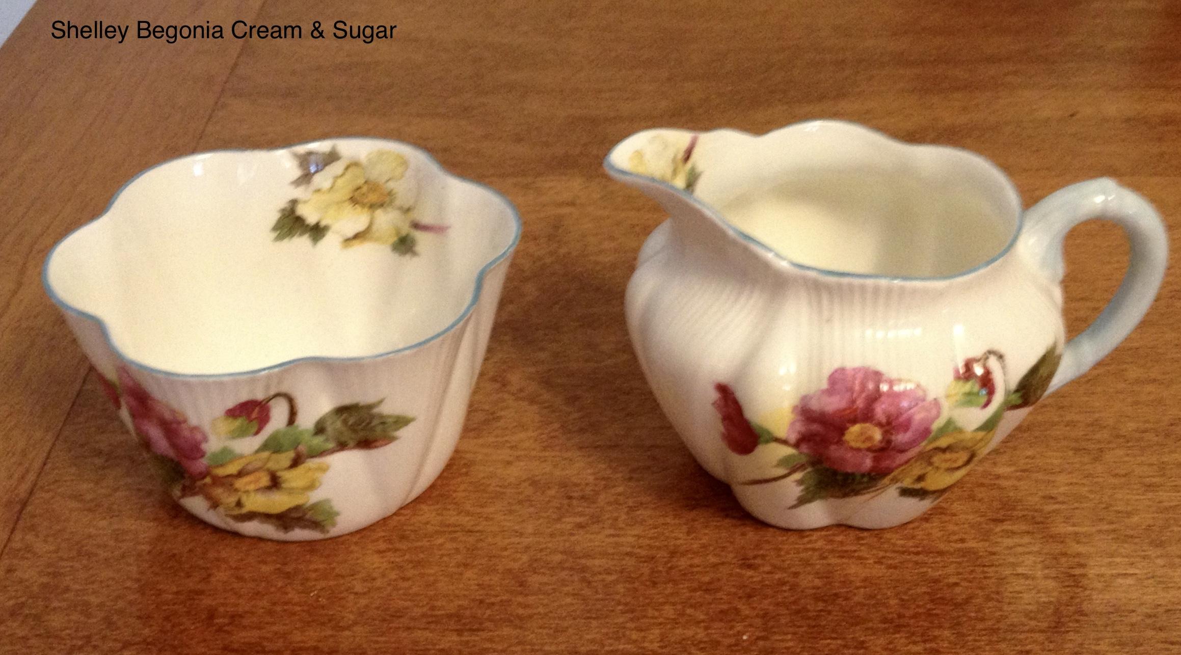 Shelly Begonia Cream & Sugar